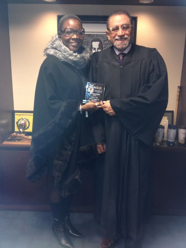 Zina Age with Judge Dempsey