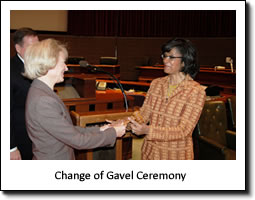 Change of Gavel Ceremony