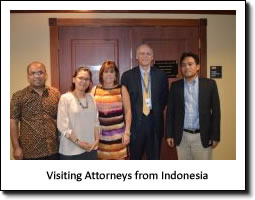 Visiting Attorneys from Indonesia