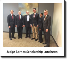 The Judge Rowland W. Barnes Scholarship Luncheon