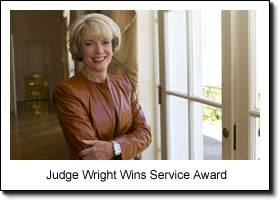 Judge Wright Wins Service Award